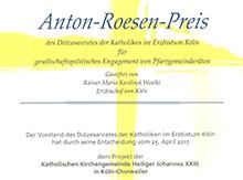 Urkunde_Anton-Roesen-Preis-Beitrag