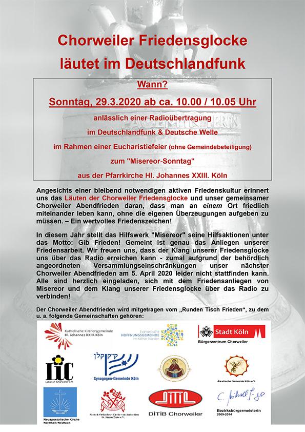 Plakat Ankündigung Radioübertragung