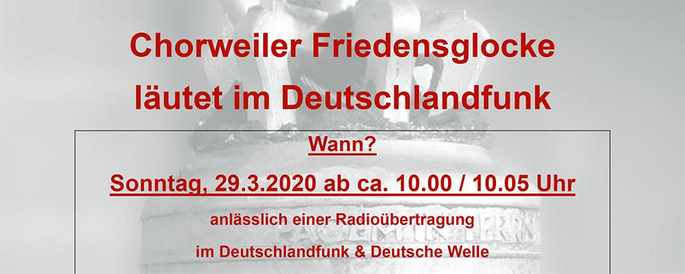 Chorweiler Friedensglocke läutet im Radio